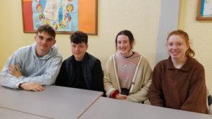 Accueil de 4 étudiants irlandais